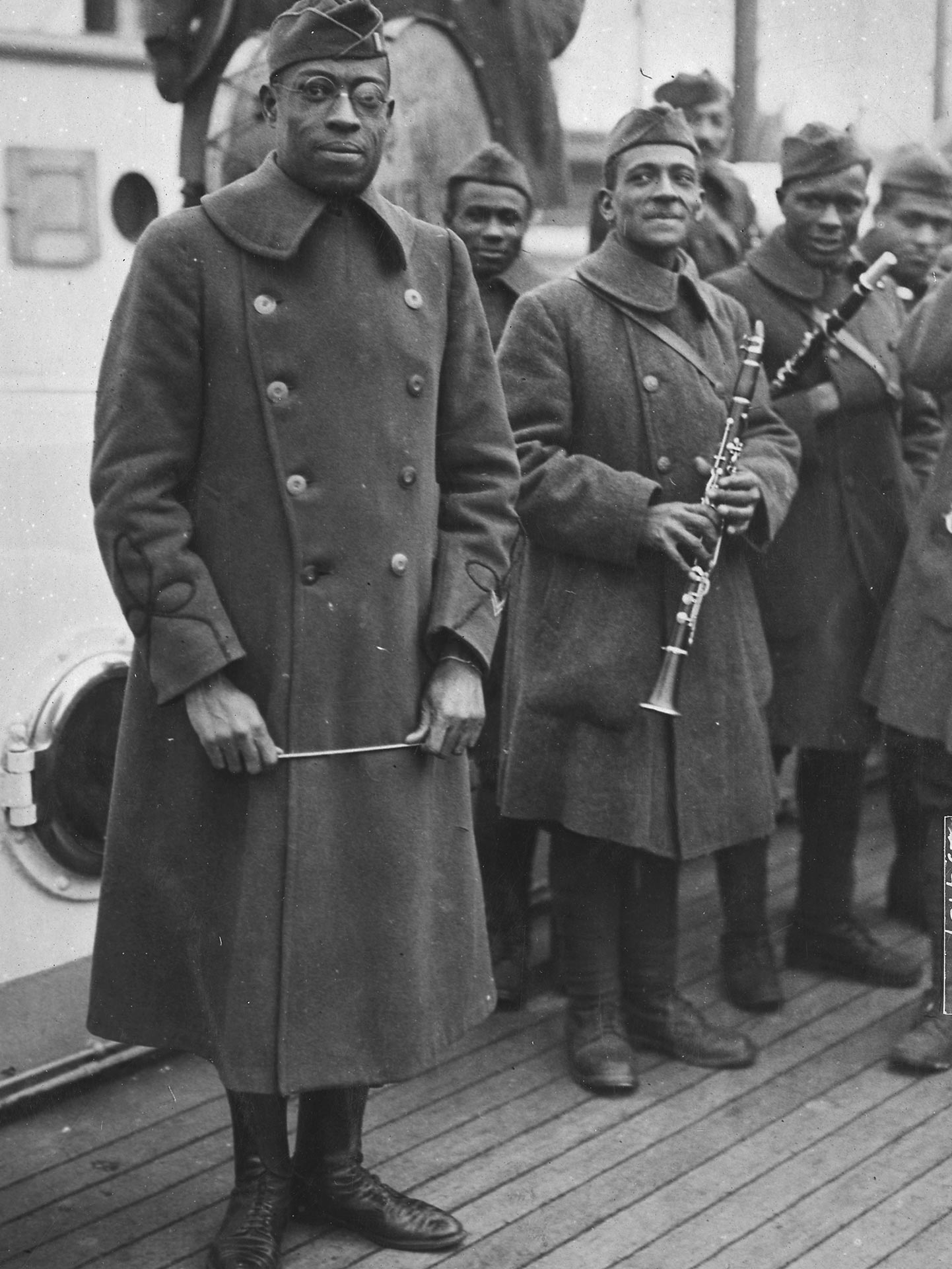 Jazz musician James Reese Europe and his band