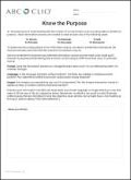 Know the Purpose Worksheet